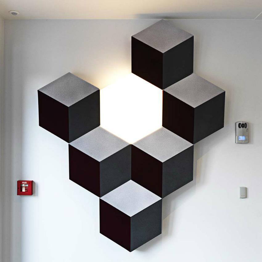 Akustische raumoptimierung 6 Escher paneele