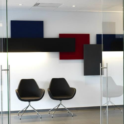 Decorative sound absorbing panels