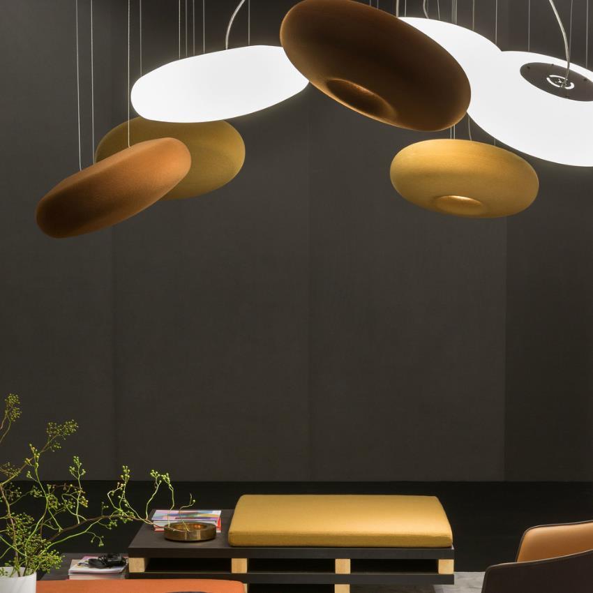 Geluidsabsorberende lamp
