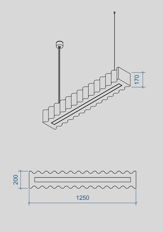 Architectural acoustics Wave pendant fixtures